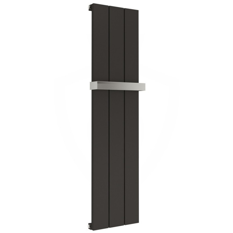 Kudox Alulite Black Designer Towel Rail- 295 x 1150mm