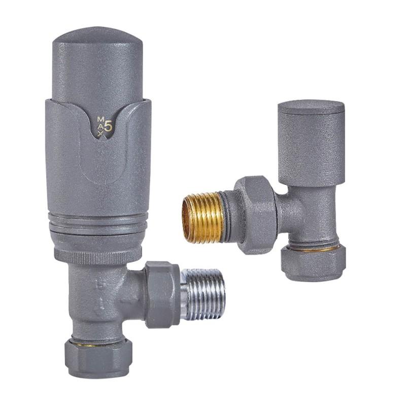 anthracite thermostatic radiator valves angled. Black Bedroom Furniture Sets. Home Design Ideas