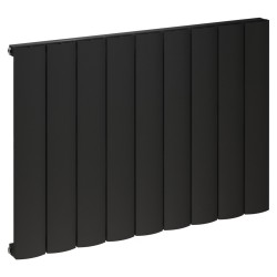 Kudox Alulite Arc Black Designer Radiator - 850 x 600mm