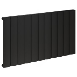Kudox Alulite Arc Black Designer Radiator - 1040 x 600mm