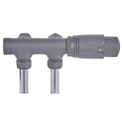 Angled Underside Euro Connection Anthracite Thermostatic Valves