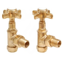 Lambeth Manual Valves Un-lacquered Brass