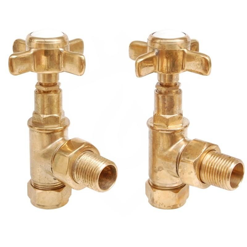 Lambeth Manual Valves Un-lacquered Brass