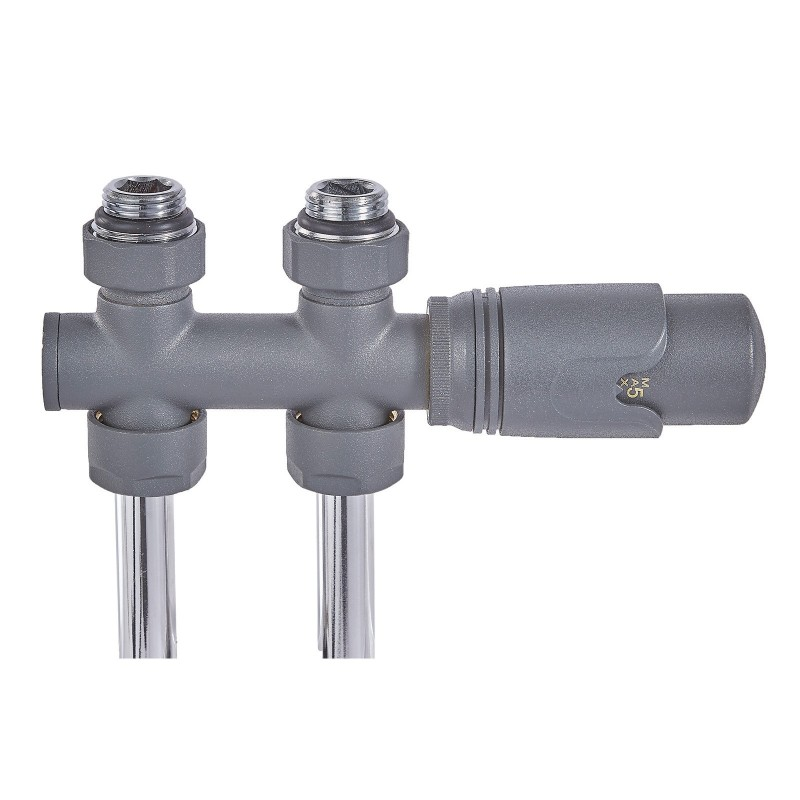 twin connection anthracite thermostatic radiator valve. Black Bedroom Furniture Sets. Home Design Ideas