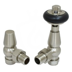 Belgravia Angled Valves Brushed Nickel