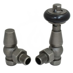 Belgravia Angled Valves Old English Pewter