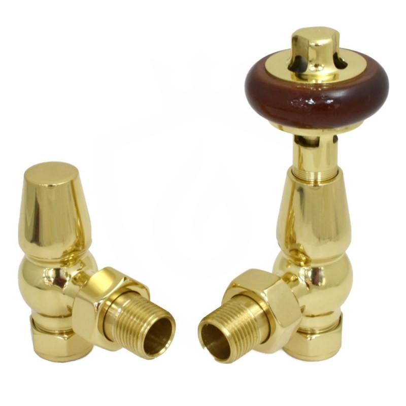Belgravia Angled Valves Polished Brass