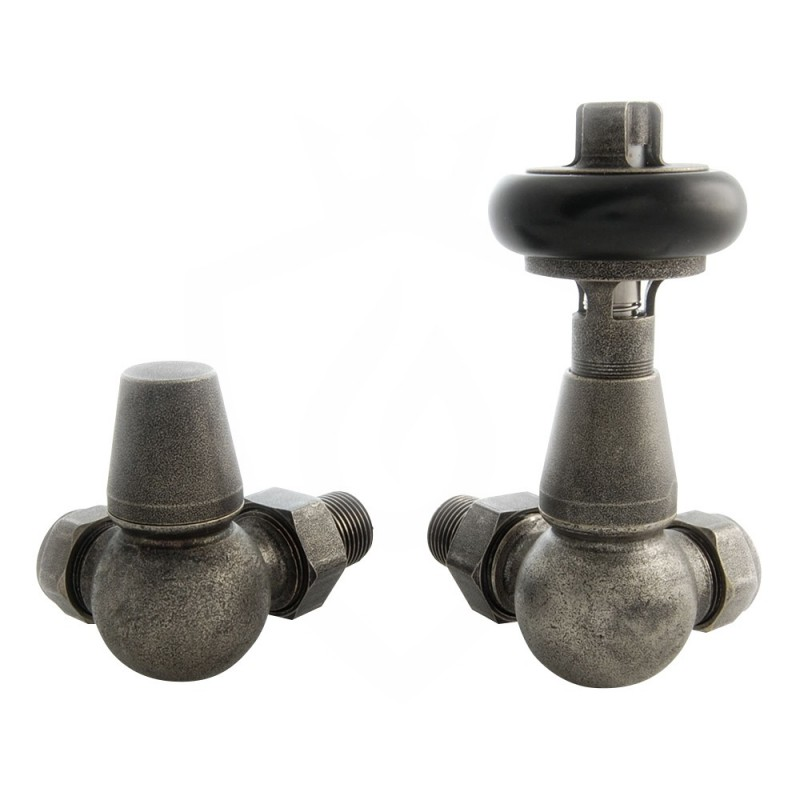 Belgravia Corner Valves Old English Pewter