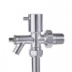 15mm Pipe Connection Chrome Drain Off Valve (Single)