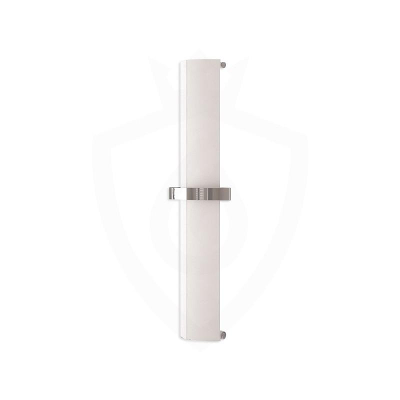 Carisa Nixie Bath White Aluminium Designer Towel Rail - 205 x 1200mm