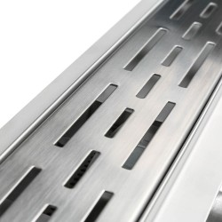 Rectangular Stainless Steel Wet Room Drain - Dot/Dash Style