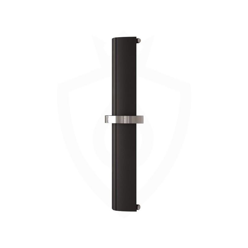 Carisa Nixie Bath Black Aluminium Designer Towel Rail - 205 x 1200mm