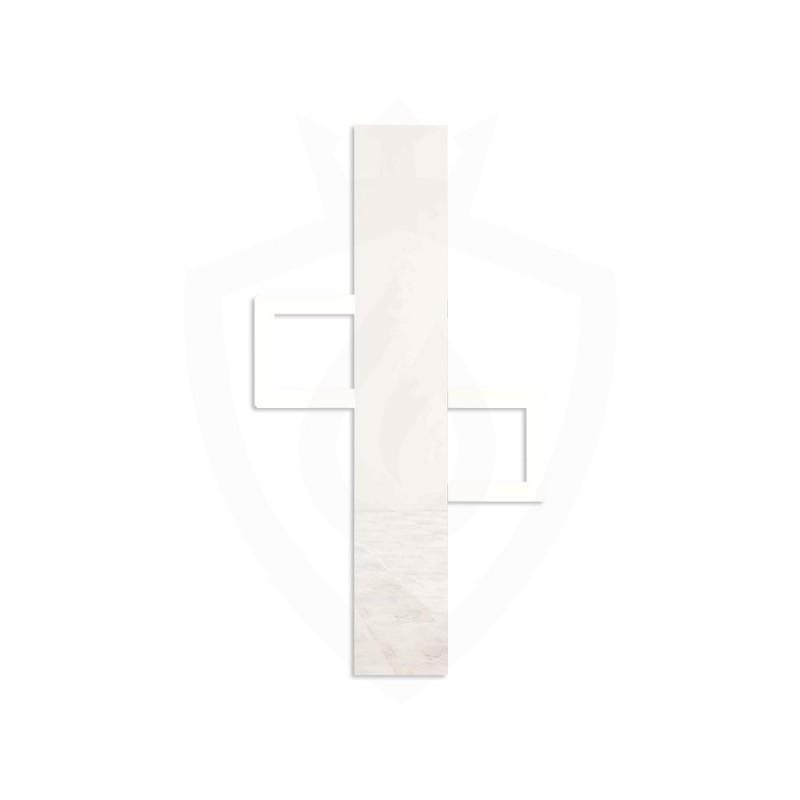 Carisa Mate White Aluminium Designer Towel Rail - 600 x 900mm