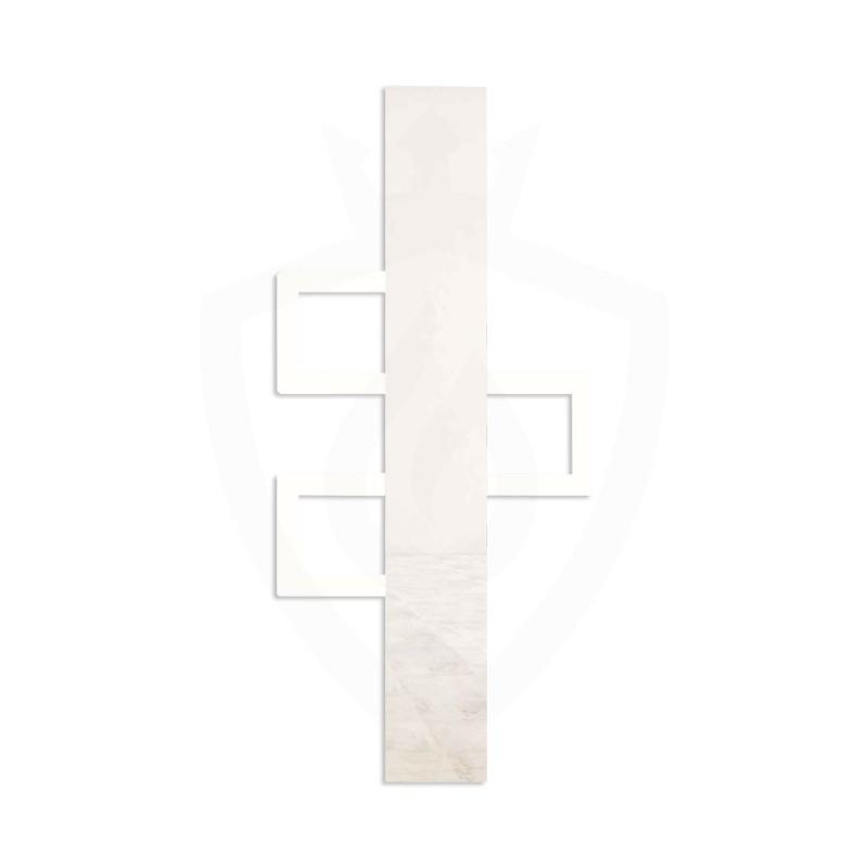Carisa Mate White Aluminium Designer Towel Rail - 600 x 1200mm