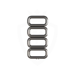 Carisa Talent Brushed Stainless Steel Designer Towel Rail - 500 x 1040mm