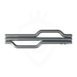 Carisa Lepus Polished Stainless Steel Designer Towel Rail - 1200 x 335mm