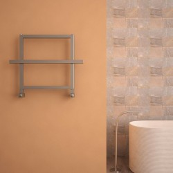 Carisa Ajax I Polished Aluminium Designer Towel Rail - 600 x 450mm - Installed