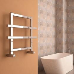 Carisa Ajax II Polished Aluminium Designer Towel Rail - 600 x 450mm - Installed