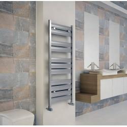 Carisa Soho Polished Aluminium Designer Towel Rail - 500 x 1225mm - Installed