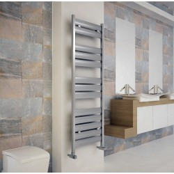 Carisa Soho Polished Aluminium Designer Towel Rail - 500 x 1480mm - Installed