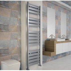 Carisa Soho Polished Aluminium Designer Towel Rail - 500 x 1735mm - Installed