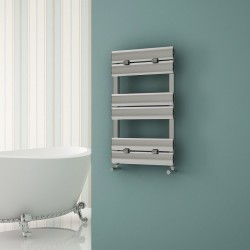 Carisa Elliptic Bath Polished Aluminium Designer Towel Rail - 500 x 790mm