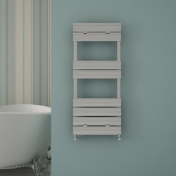 Carisa Elliptic Bath Polished Aluminium Designer Towel Rail - 500 x 1190mm
