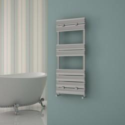 Carisa Elliptic Bath Polished Aluminium Designer Towel Rail - 500 x 1190mm - Installed