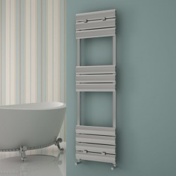 Carisa Elliptic Bath Polished Aluminium Designer Towel Rail - 500 x 1590mm