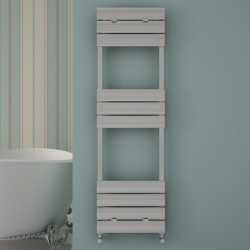Carisa Elliptic Bath Polished Aluminium Designer Towel Rail - 500 x 1590mm - Installed
