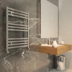 Carisa Fame Polished Aluminium Designer Towel Rail - 500 x 700mm - Installed