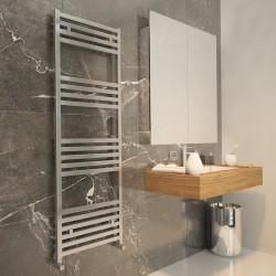Carisa Fame Polished Aluminium Designer Towel Rail - 500 x 1460mm - Installed