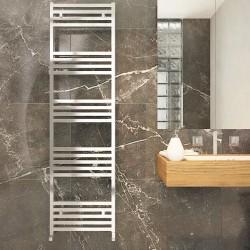 Carisa Fame Polished Aluminium Designer Towel Rail - 500 x 1740mm - Installed