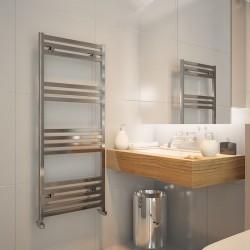 Carisa Fame Polished Aluminium Designer Towel Rail - 500 x 1220mm - Installed