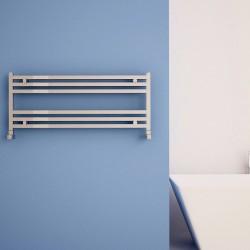 Carisa Fame Polished Aluminium Designer Towel Rail - 1000 x 400mm - Installed