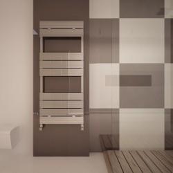 Carisa Monza Bath Polished Aluminium Designer Towel Rail - 500 x 1190mm - Installed