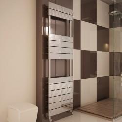 Carisa Monza Bath Polished Aluminium Designer Towel Rail - 500 x 1590mm - Installed