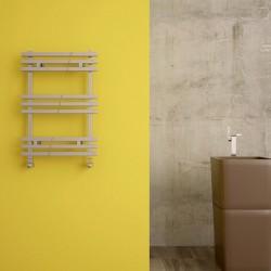 Carisa Baron Polished Aluminium Designer Towel Rail - 500 x 720mm - Installed