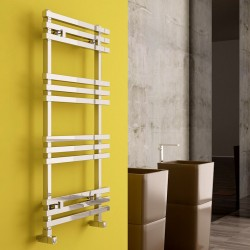 Carisa Baron Polished Aluminium Designer Towel Rail - 500 x 1000mm - Installed