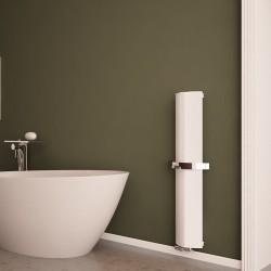 Carisa Nixie Bath White Aluminium Designer Towel Rail - 205 x 1200mm - Installed