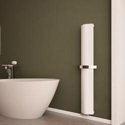 Carisa Nixie Bath White Aluminium Designer Towel Rail - 205 x 1500mm - Installed