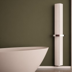 Carisa Nixie Bath White Aluminium Designer Towel Rail - 205 x 1800mm - Installed