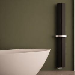 Carisa Nixie Bath Black Aluminium Designer Towel Rail - 205 x 1800mm - Installed