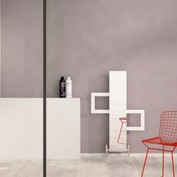 Carisa Mate White Aluminium Designer Towel Rail - 600 x 900mm - Installed