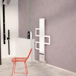 Carisa Mate White Aluminium Designer Towel Rail - 600 x 1200mm - Installed