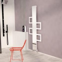 Carisa Mate White Aluminium Designer Towel Rail - 600 x 1500mm - Installed