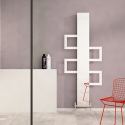 Carisa Mate White Aluminium Designer Towel Rail - 600 x 1500mm - Installed
