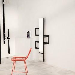 Carisa Mate Black Aluminium Designer Towel Rail - 600 x 1200mm - Installed