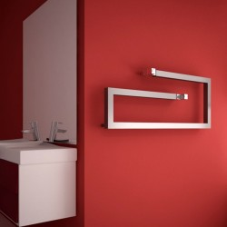 Carisa Klips Brushed Aluminium Designer Towel Rail - 1000 x 400mm - Installed
