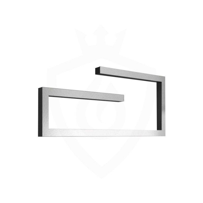 Carisa Klips Brushed Aluminium Designer Towel Rail - 1000 x 400mm